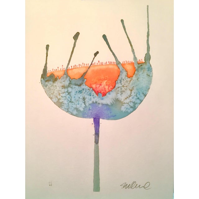 """""""Blue Buttercup"""" Original Watercolor Painting - Image 1 of 2"""