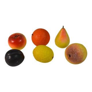 Vintage Marble Stone Fruit - Set of 6 For Sale