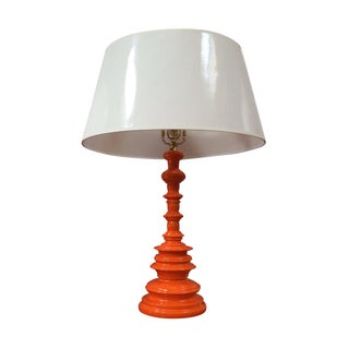 Orange Tiered Base Table Lamp