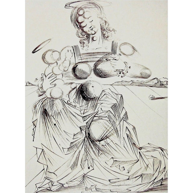 Artist: Salvador Dali (1904-1989) Title: Disintegrating Mother & Child Year: 1989 Medium: Lithograph on heavyweight wove...