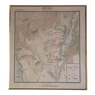 1797 Antique Rivoli French Military Map For Sale