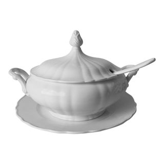 Vintage Italian Ceramic Tureen For Sale