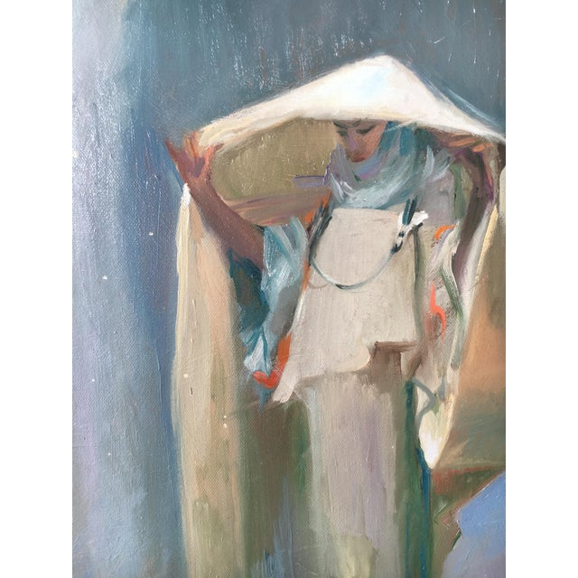 Vintage Oil Painting of a Woman - Image 3 of 3
