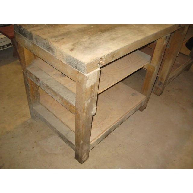 1900s Industrial Railroad Work Bench For Sale - Image 6 of 13