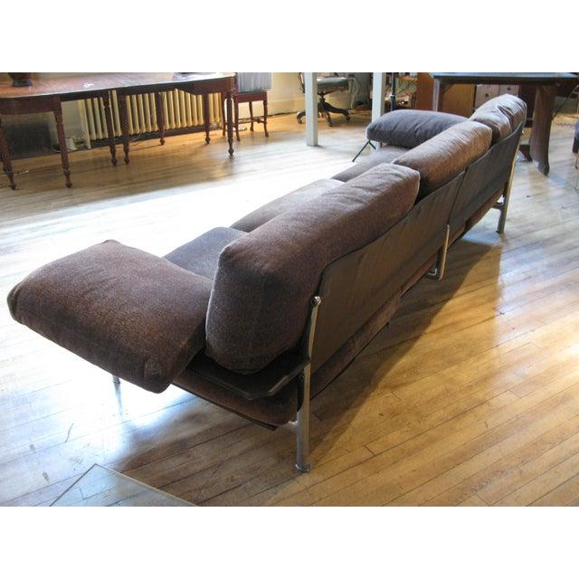 1990s 1990s Vintage Antonio Citterio for B&b Italia Velvet Diesis Sofa For Sale - Image 5 of 8