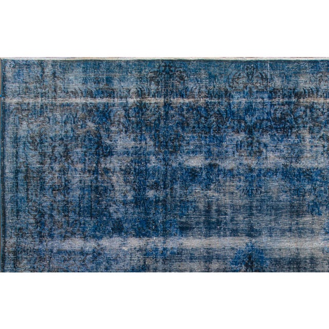 "Traditional Apadana - Vintage Overdyed Rug, 12'9"" X 9'5"" For Sale - Image 3 of 6"