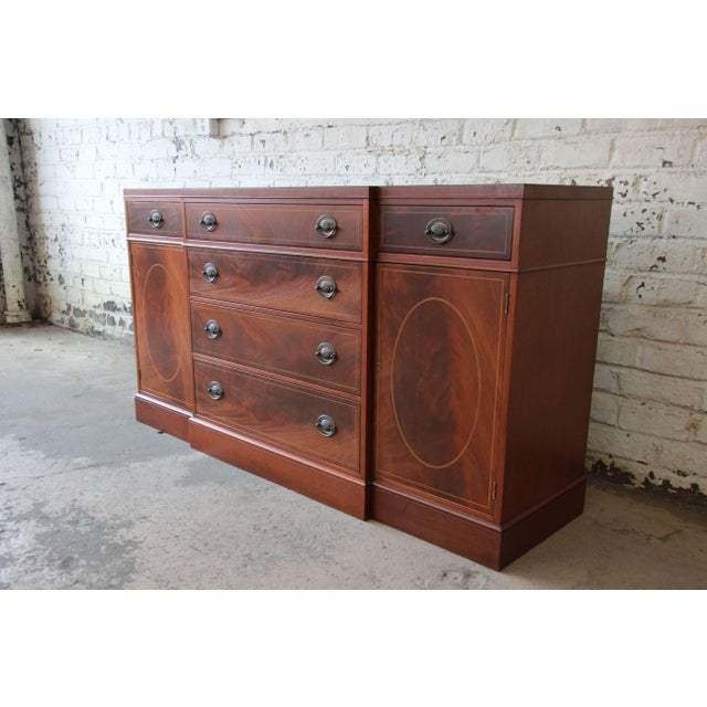 Baker Furniture Company Baker Furniture Inlaid Mahogany Sideboard Buffet For Sale - Image 4 of 11