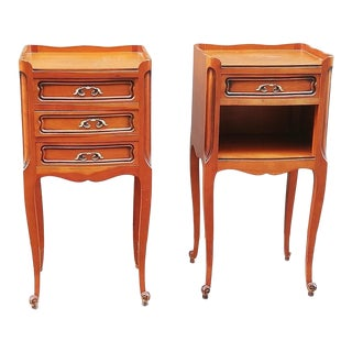 French Louis XV Style Nightstands - a Pair For Sale