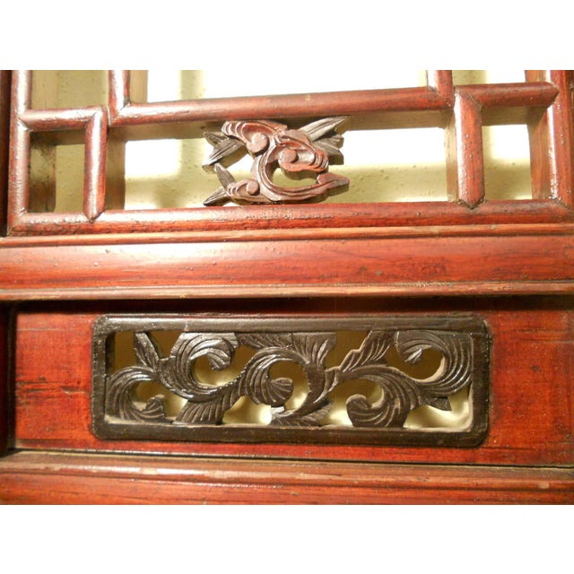 1800-1849 Antique Chinese Cunninghamia Wood Screen Panels - a Pair For Sale - Image 9 of 11
