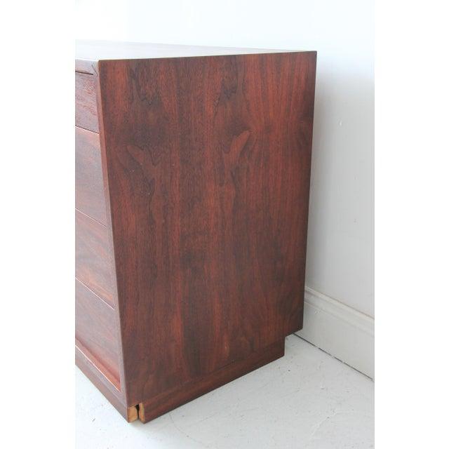 Vintage Mid-Century Modern Walnut 4-Drawer Dresser - Image 3 of 7