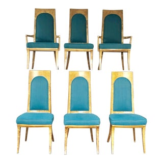 Vintage Mid Century Klismos Dining Chairs- Set of 6 For Sale