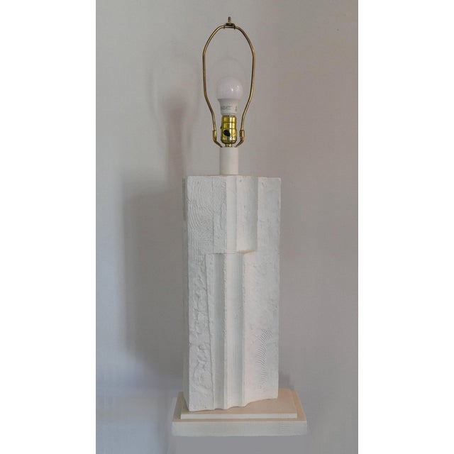 Cubist Plaster Lamp For Sale - Image 4 of 6