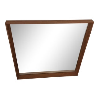 Pedersen Hansen Danish Teak Wall Mirror For Sale