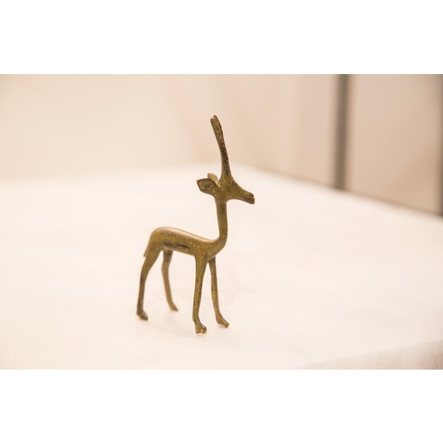 Bronze Vintage Bronze Gazelle Figurine / Ashanti Gold Weight For Sale - Image 7 of 7