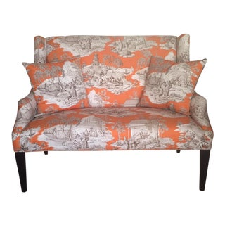 Custom Manuel Canovas Settee For Sale