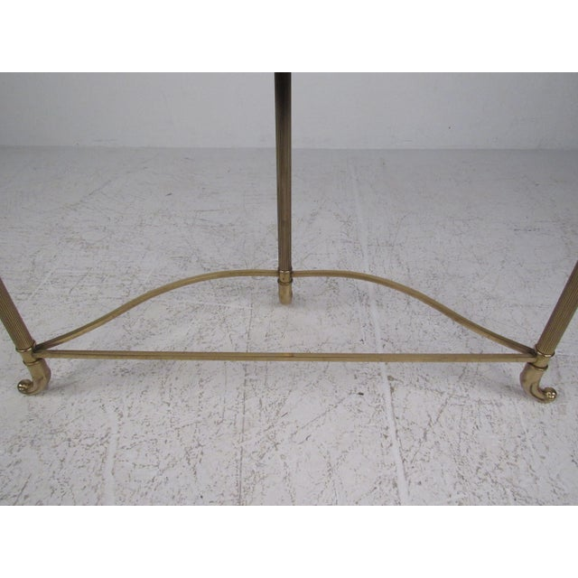 Brass Mid-Century Style Demi-Lune Hall Table For Sale - Image 8 of 11