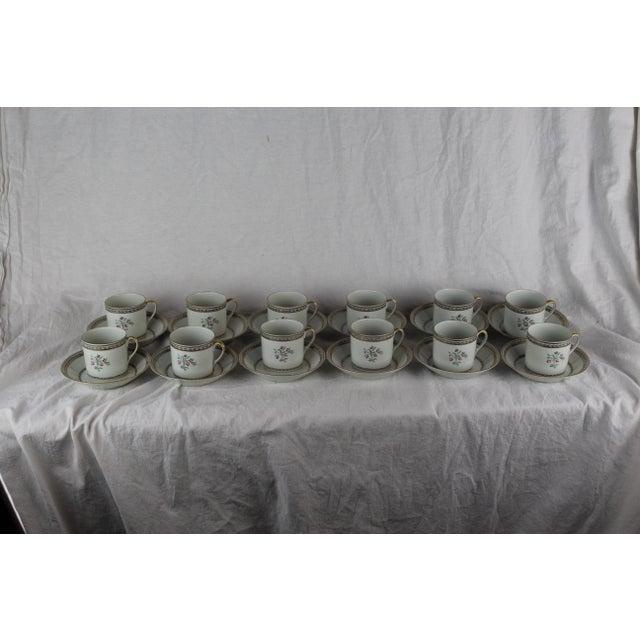 Ceramic Vista Algere Cups & Saucers - Set of 12 For Sale - Image 7 of 10