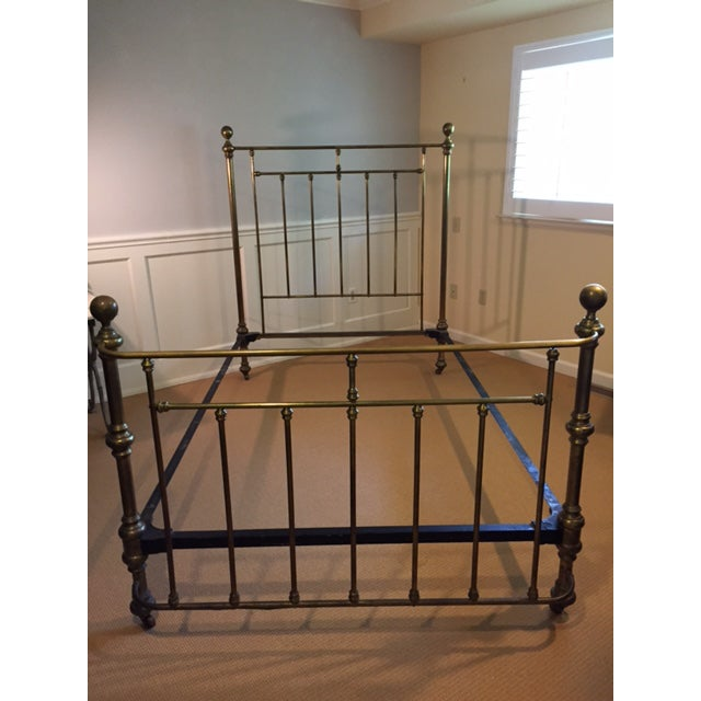 Circa 1880 Antique Brass Bed - Image 2 of 3
