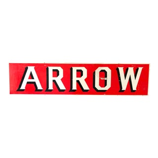 "Red Tin ""Arrow"" Sign For Sale"