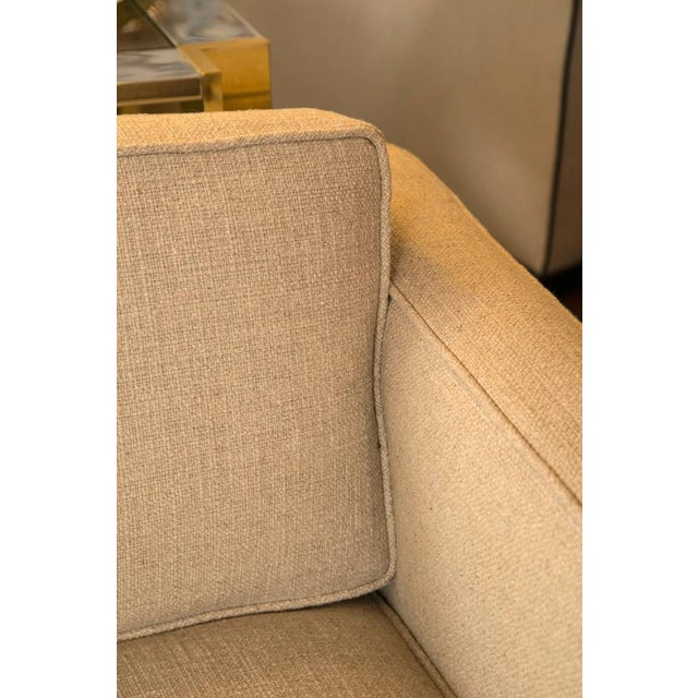 Mid-Century Knoll Sofa in Custom Linen - Image 5 of 6