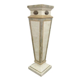 Maitland Smith Tessellated Marble Pedestal For Sale