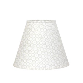 Geometric Grey Linen Lampshade For Sale