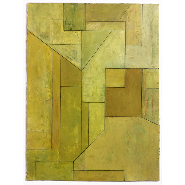 """""""Olive Tree"""" Geometric Abstract Painting on Paper by Stephen Cimini For Sale In New York - Image 6 of 6"""