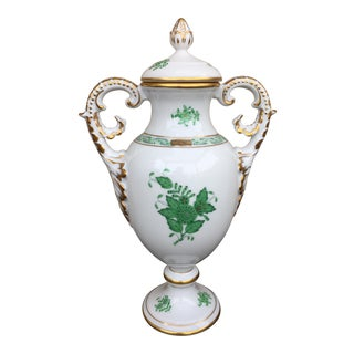 Herend Chinese Bouquet Lidded Urn Vase For Sale