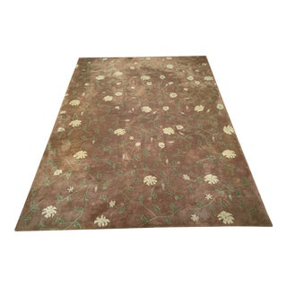 Crate & Barrel Wool Rug With Pad - 9′ × 12′ For Sale