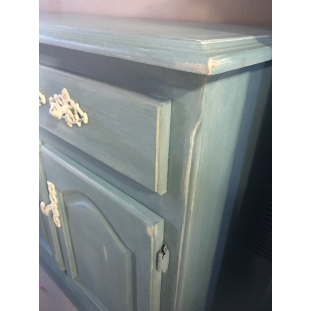"""Blue French Provincial """"Annabel"""" China Cabinet - Image 10 of 11"""