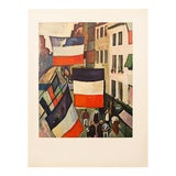 """Image of 1954 Raoul Dufy, """"Street Decked With Flags"""" First Edition Lithograph For Sale"""
