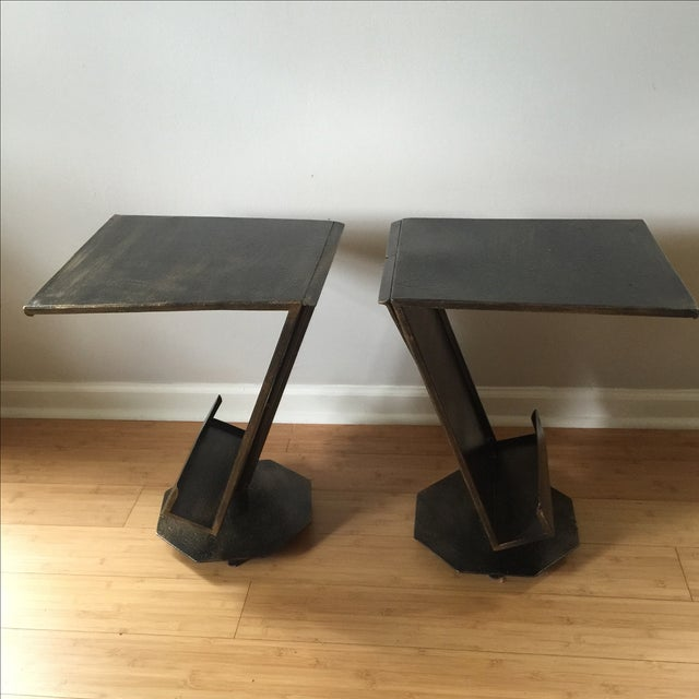 Art Deco Artist Bronze Patina Side Tables - A Pair - Image 6 of 7