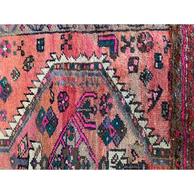 Vintage Persian Serapi Heriz Area Rug- 3′3″ × 3′8″ For Sale In Los Angeles - Image 6 of 8
