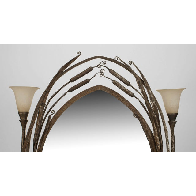 French Art Deco Wrought Iron Cheval Mirror For Sale In New York - Image 6 of 8