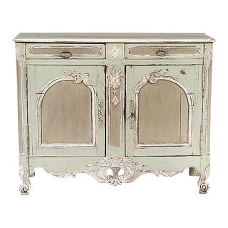 Louis XV Provincial Painted Oak Buffet For Sale