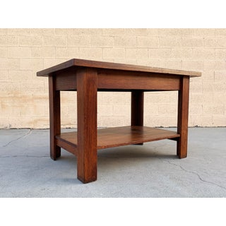 Antique American Craftsman Library/ Work Table, Solid Oak Preview