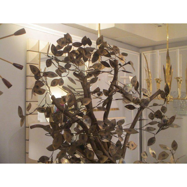 Brass Pair of Curtis Jere Tree Sculptures For Sale - Image 7 of 9