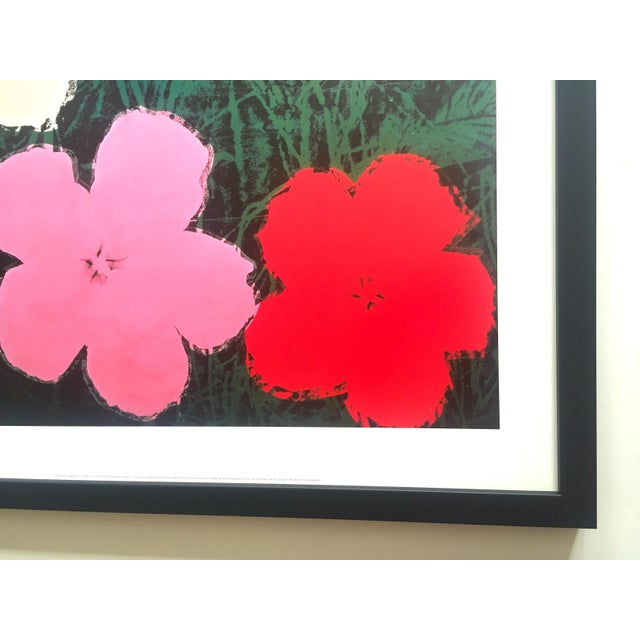 """Andy Warhol Foundation Vintage Lithograph Print Framed Pop Art Poster """" Flowers III """" 1964 For Sale - Image 12 of 13"""