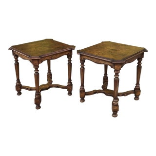 Antique Italian Walnut End Tables - a Pair For Sale
