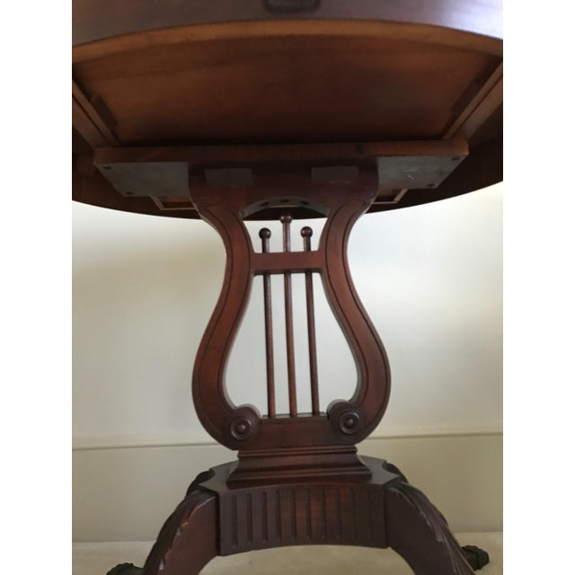 1943 Kimball Harp Table Solid Mahogany For Sale - Image 5 of 11