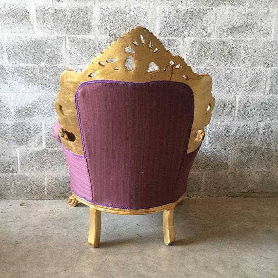 Italian Rococo Style Chairs - 4 For Sale - Image 4 of 5