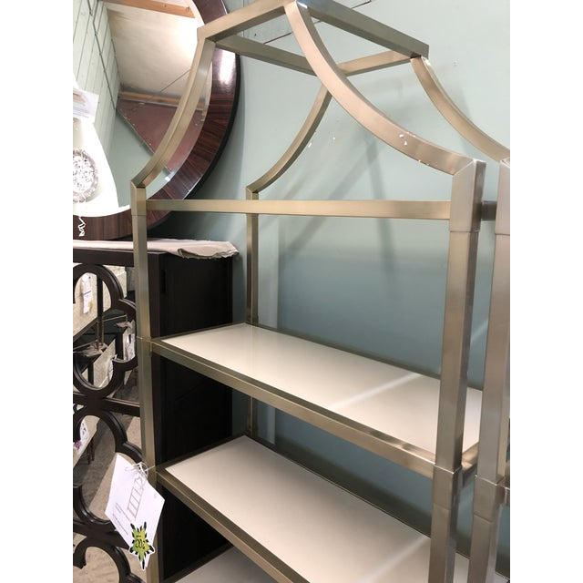 This five shelf etagere will go with any style. Tons of room to display your decor.