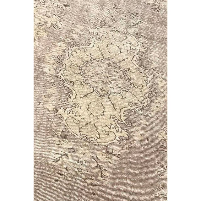 Floor Overdyed Beige Rug - 5′6″ × 9′1″ For Sale - Image 4 of 6