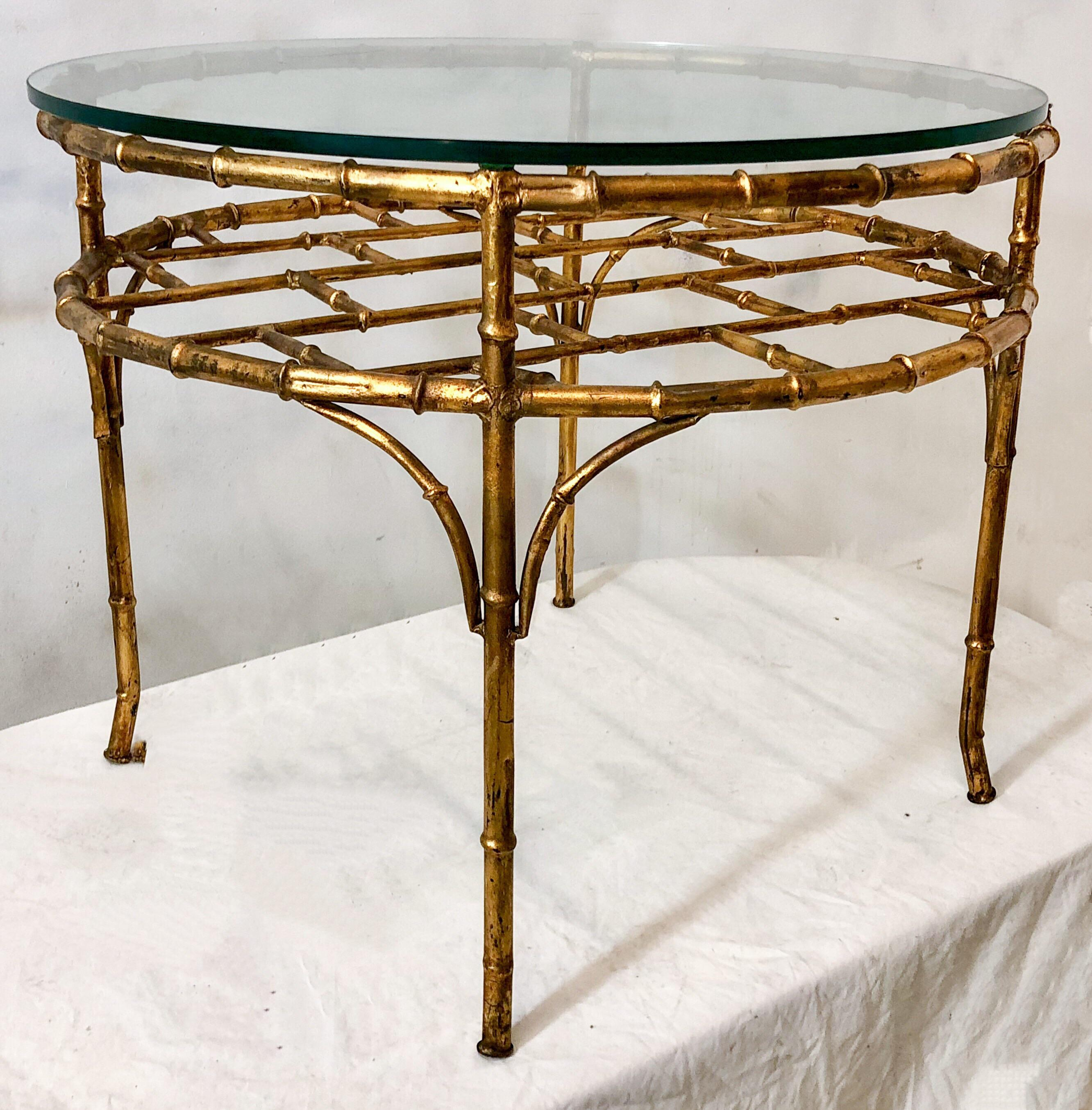 Superior Gilt Metal Faux Bamboo Coffee Table   Image 6 Of 6