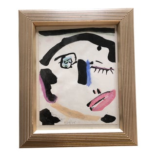 Original Contemporary Robert Cooke Abstract Pastel Face Painting For Sale