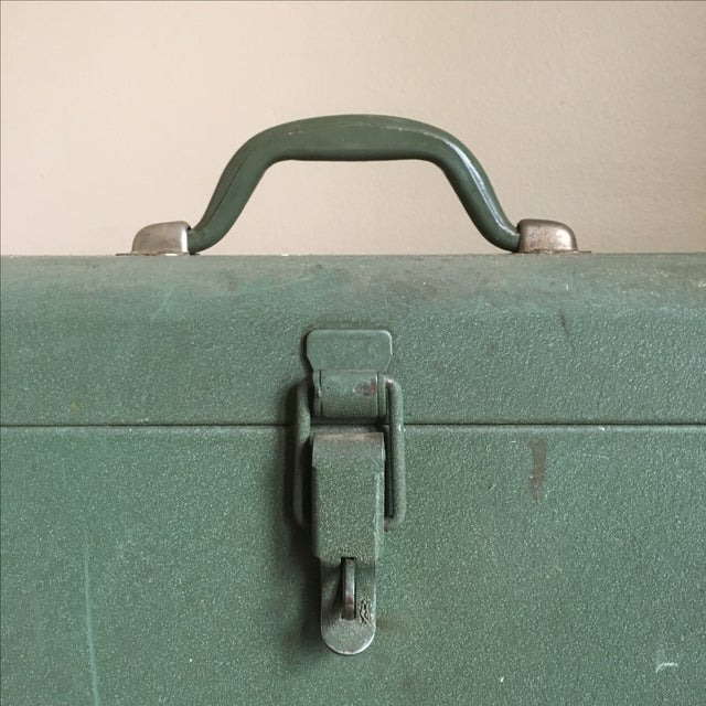 Vintage Green Kennedy Tool Box For Sale - Image 4 of 11