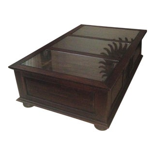 Indonesian Teak Coffee Table For Sale