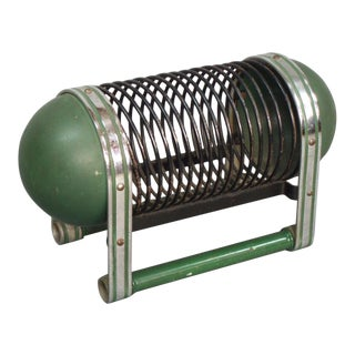 Machine Age Art Deco Chrome and Painted Steel Magazine Holder For Sale