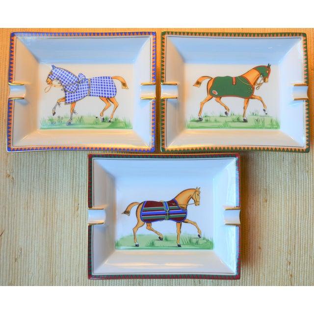 1970s Hermes Porcelain Equestrian Ashtray For Sale - Image 9 of 10