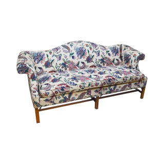 Ethan Allen Chippendale Style Camel Back Sofa